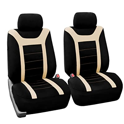 FH Group FB070BEIGE102 Beige Front Airbag Ready Sport Bucket Seat Cover, Set of 2: Automotive