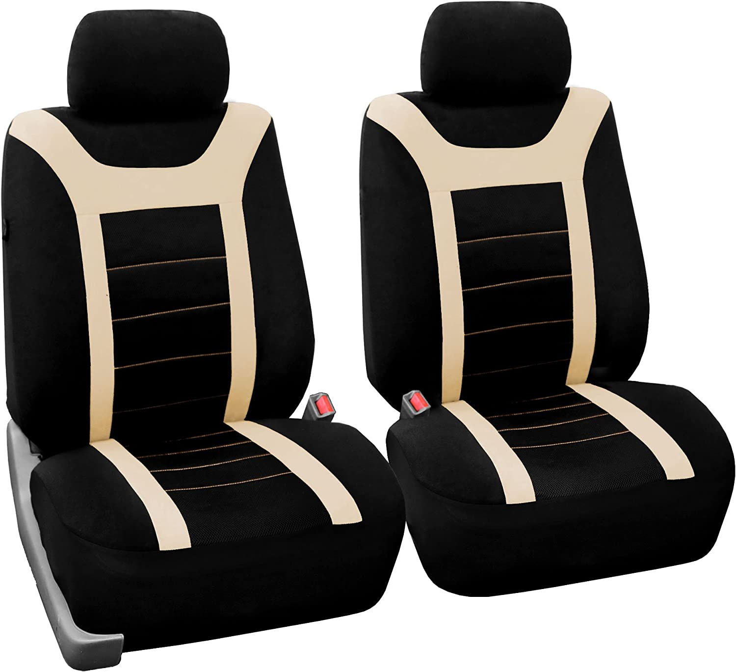 or Van Black FH GROUP FH-FB070013 Sports Bench Seat Cover -Rear Split Bench Truck SUV Fit Most Car
