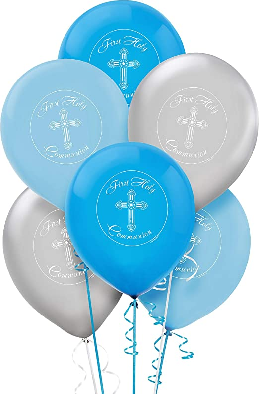 Boy Girl First Holy Communion Church Party Decoration Latex Printed Balloons