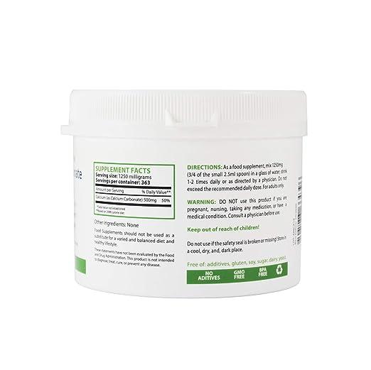 Amazon.com: Carbonato de calcio polvo,, de grado ...