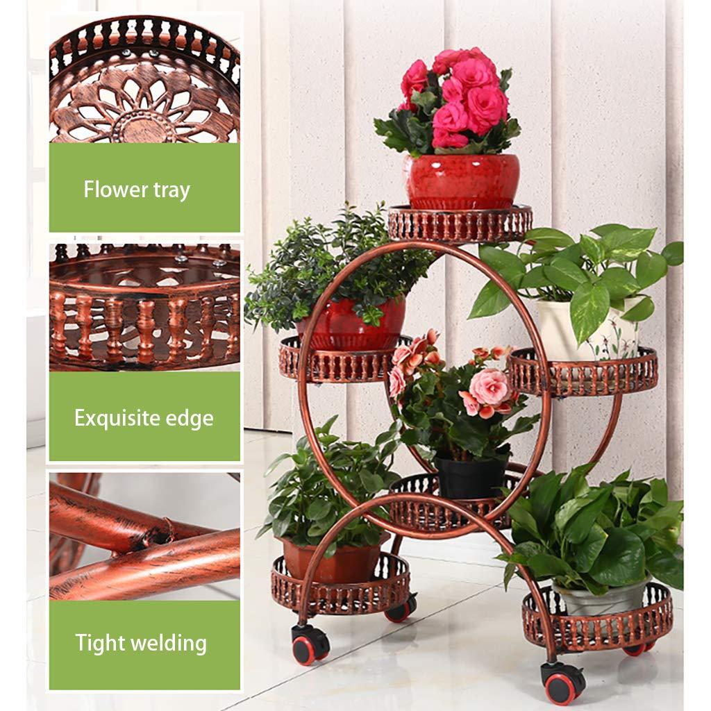 Con rueda universal Soporte de planta Decorativo de metal Patio de ...