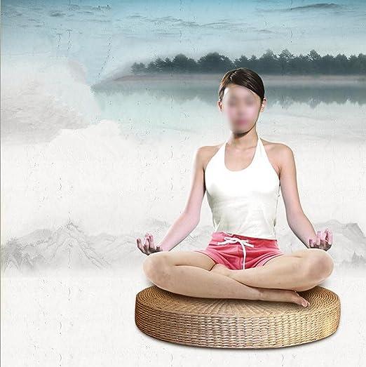 Amazon.com: Cojín de paja natural redondo para tatami ...