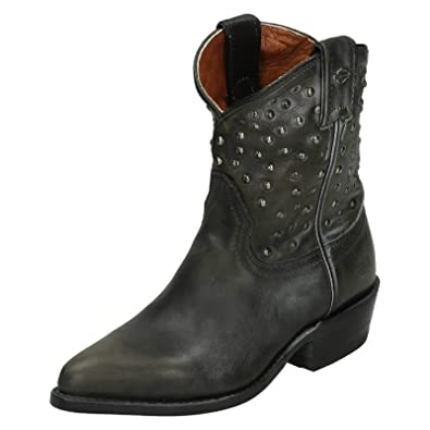 32f603f0398ec Harley Davidson Ladies Biker Boots Kira - Black Leather - UK Size 3.5 - EU  Size
