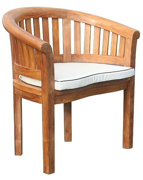 Amazon.com: Cojín para muebles de teca Peanut silla/taburete ...