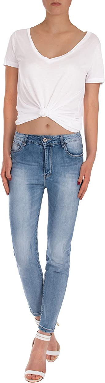 Damskie spodnie dżinsy fraternel Girlfriend krÓtka nogawki: Odzież