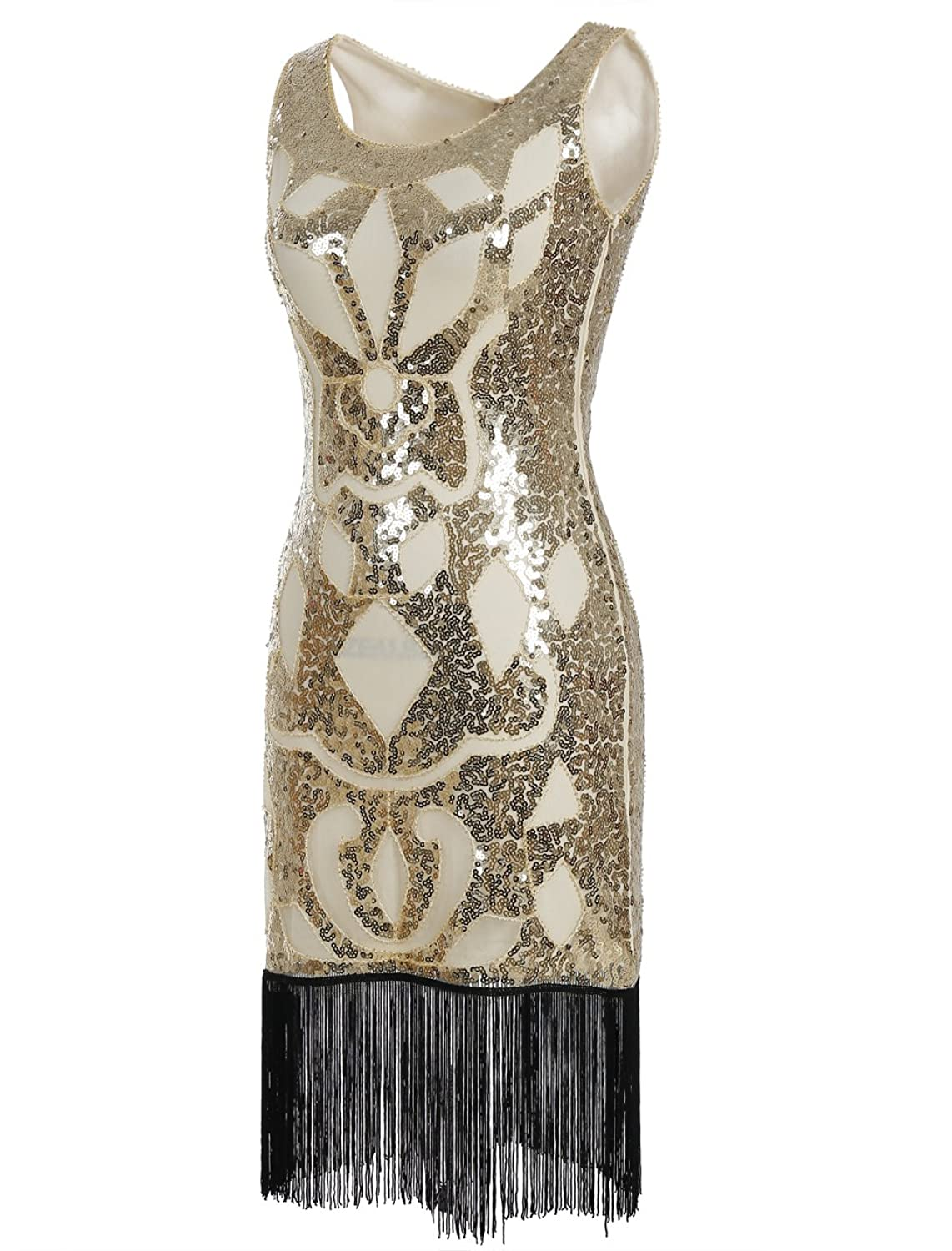 Amazon.com: Emust Art Deco Great Gatsby 1920s Sequined Embellished ...