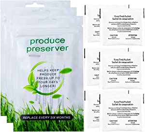 Funmit W10346771A Produce Preserver Packets (6 Pouches-3 Pack) Replacement for Whirlpool Refrigerator