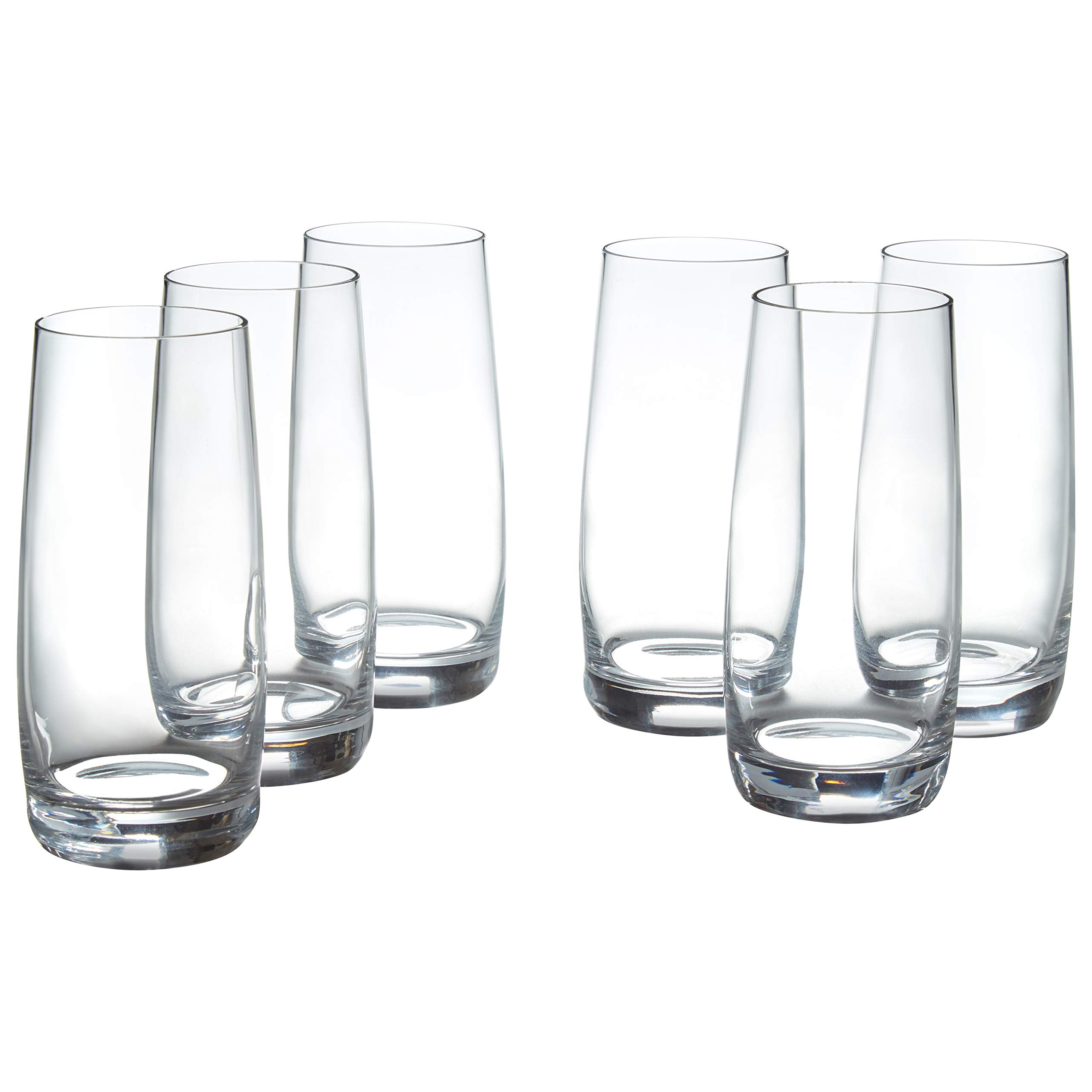 Stone & Beam Traditional HighBall Drinking Glass, 16-Ounce, Set of 6 by Stone & Beam