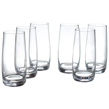 Stone & Beam Traditional HighBall Glass, 16-Ounce, Pack of 6