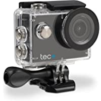 TecPlus 720 HD 5 MP 120 Degree Wide Angle Lens Waterproof 30 m Helmet Camera Sports Action Camera with Mounting Accessories Kit for Cycling/Surfing/Climbing - Black