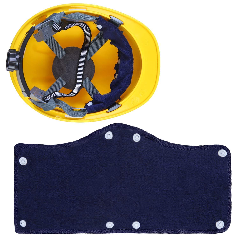 accessoires de protection en coton lavable absorbants de sueur r/éutilisables KJSMA Ensemble de 6 bandeaux de protection pour casque bleu doublure de casque