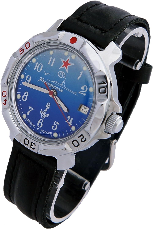 Vostok Komandirskie Military Russian Watch U-boot Submarine Blue 2414 811289