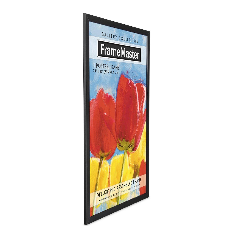 FrameMaster 24x36 Poster Frame (1 Pack), Black Wood Composite, Gallery Edition by FrameMaster (Image #2)