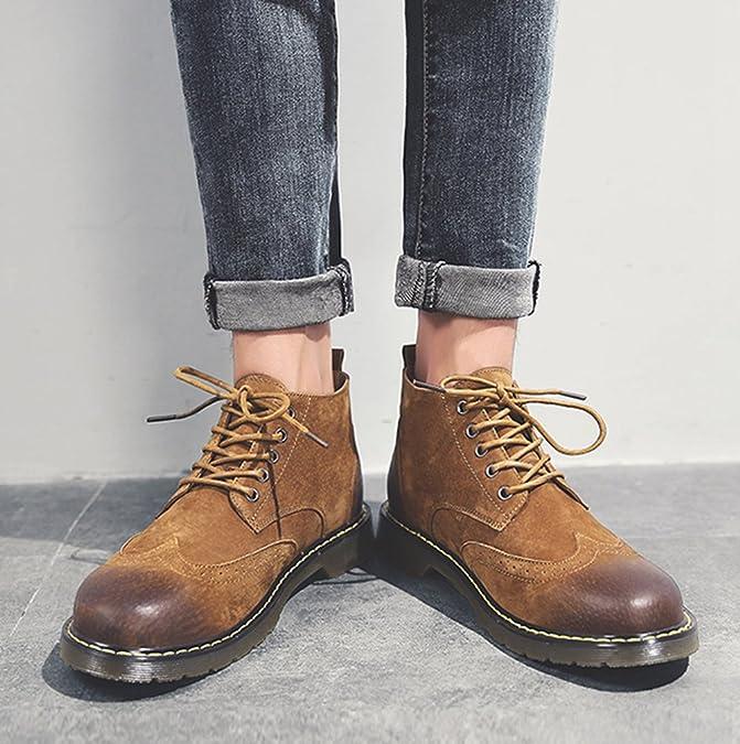 Jitong Herren Schnürstiefel Klassische Stiefelette Freizeit Kunstleder Oxford Outdoor Boots Gray Asien 44 (27cm) 7tHo0Mby9g