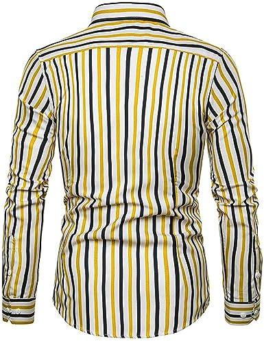 HCFKJ La Hombres Imprimió Las Camisas Camisas Hawaianas CóModa Delgada De La Manga Larga: Amazon.es: Ropa y accesorios