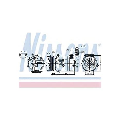 Nissens 89057 Compresor, aire acondicionado