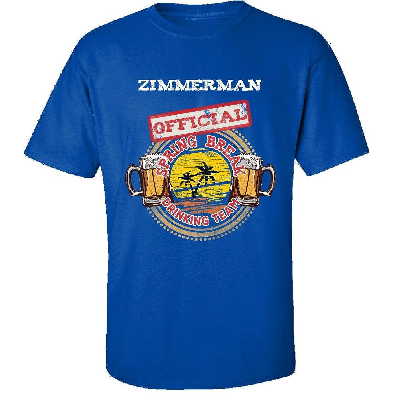 Zimmerman Official Spring Break 2017 Drinking Team - Adult Shirt