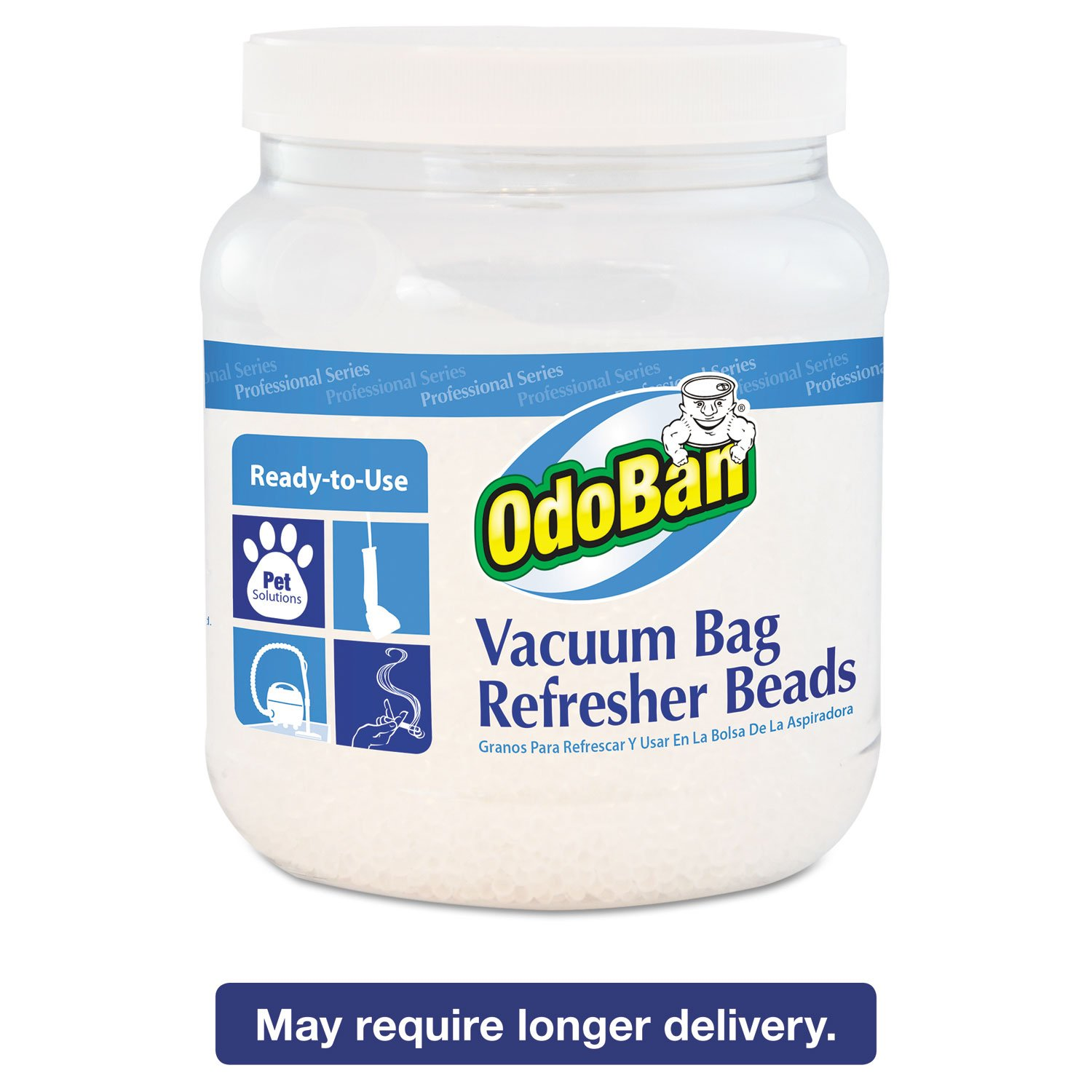 OdoBan Vacuum Bag Refresher Beads, Fresh Scent, 1.5 lb Jar, 12/Carton CCC 745A62-24Z12
