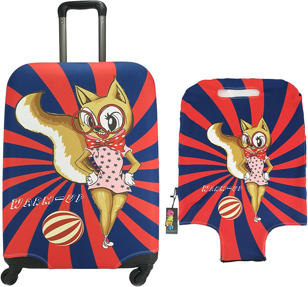 Travel Luggage Cover ONE2 Cartoon Suitcase Protector Fits 18-30 Inch Luggage