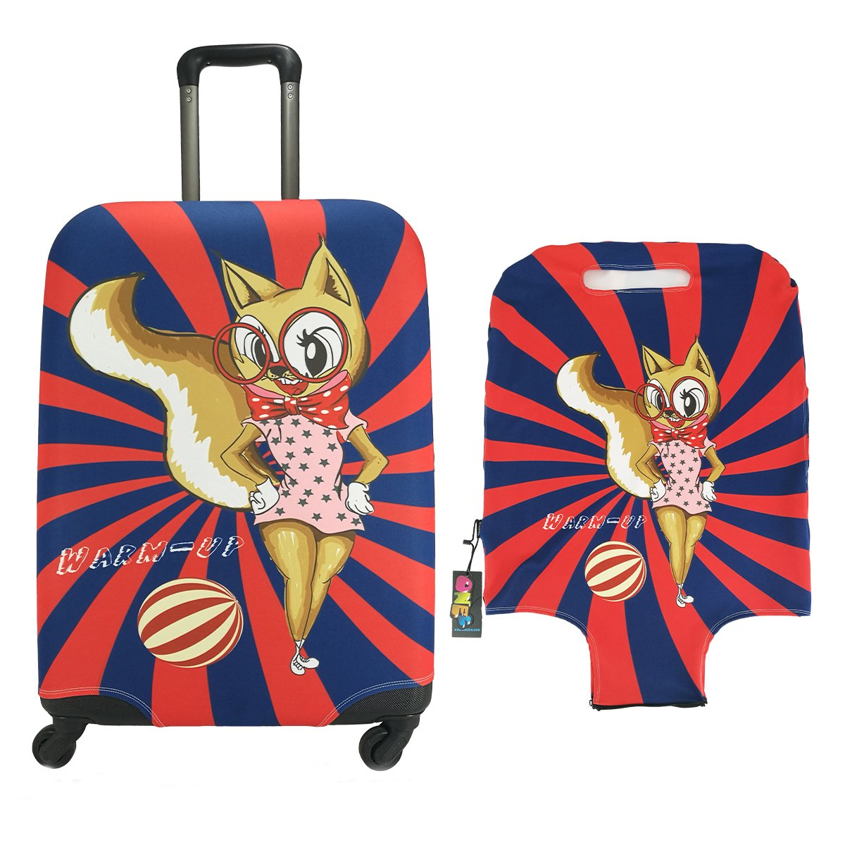 Animal Travel Luggage Cover ONE2 Cartoon Suitcase Protector Fits 18-30 Inch Luggage