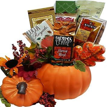 Image Unavailable  sc 1 st  Amazon.com & Art of Appreciation Gift Baskets Fall Harvest Ceramic Pumpkin ...
