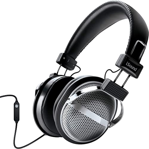 iSound DGHP-5526 HM-270 Stereo Headphones with Inline Mic Volume, Black