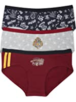 Harry Potter Multi Colour Character Print Elasticated Waist Hot Pant Briefs Three Pack