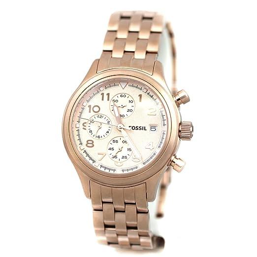 Fossil - Reloj de pulsera hombre, acero inoxidable, color dorado: Fossil: Amazon.es: Relojes