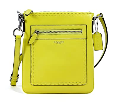 1f0156ea9ad COACH Legacy Leather Swingpack in Lemon {Yellow} 47989