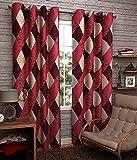Srk Trendz 1 Piece Polyester Eyelet Curtain Window (Maroon, 4 x 5)