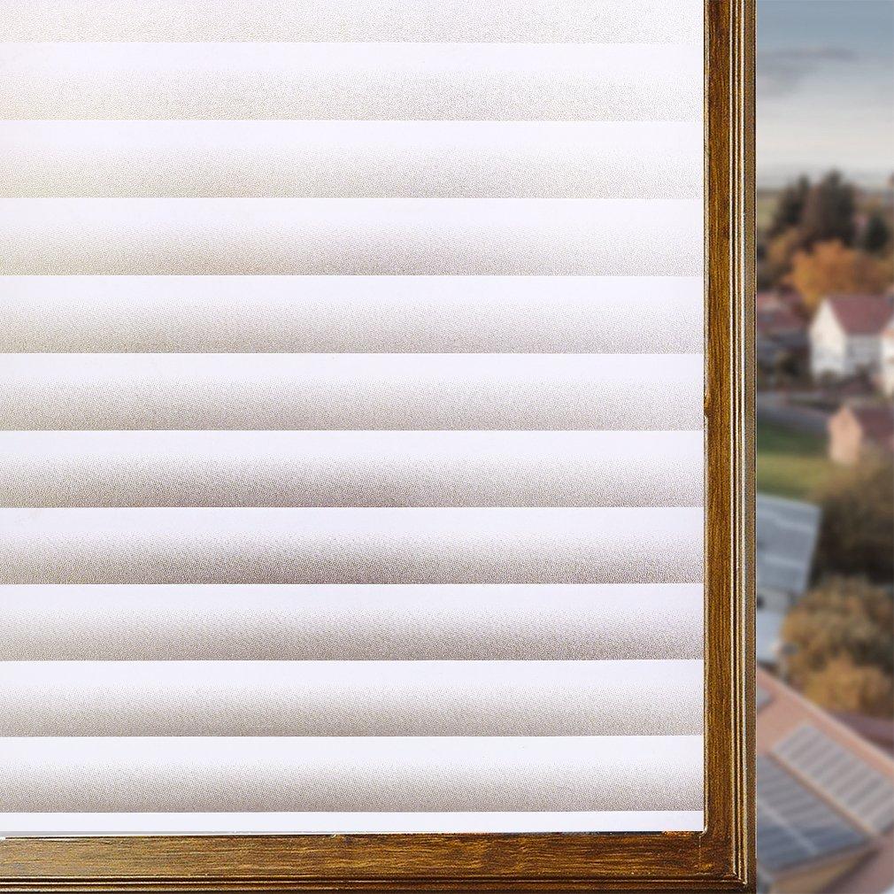 KINLO Film Vitre 90X200CM Électrostatique Protéger Intimité en PVC Film Fenêtre Autocollant sans Colle Plus Large Sticker Fenêtre Anti-UV pour Bureau Maison Salle de Bain-Verre Dépoli Anti-Regard JL-Business