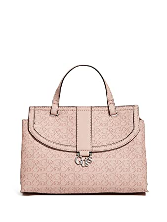 cc5d333389c9 Amazon.com  GUESS Women s Hemlock Logo-Embossed Small Satchel Bag Handbag   Fashion-USA