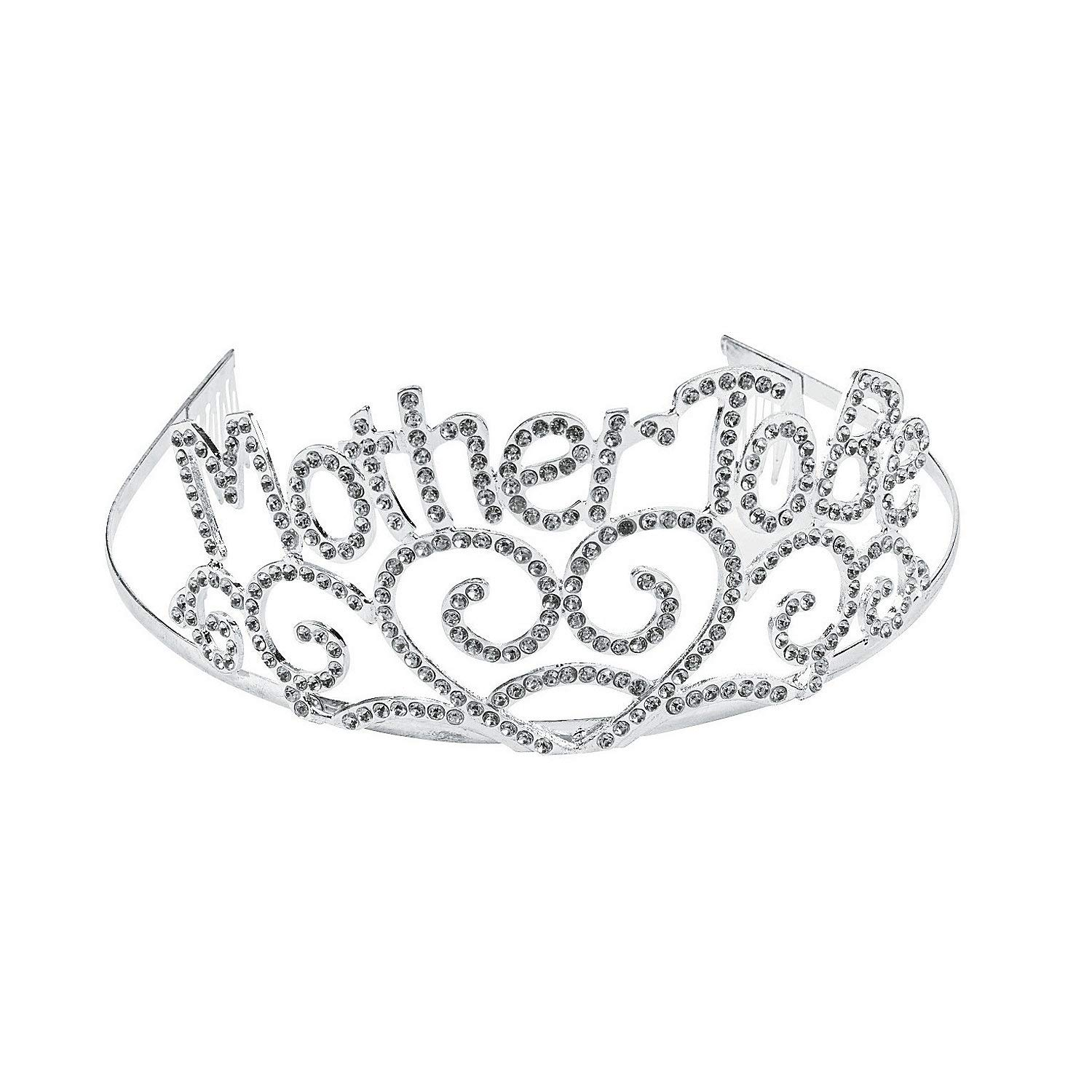 Fun Express - Mother to Be Tiara for Baby - Apparel Accessories - Hats - Tiaras & Crowns - Baby - 1 Piece
