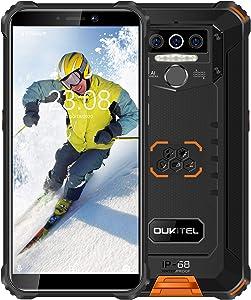 OUKITEL WP5 Pro Rugged Cell Phone Unlocked, 4GB +64GB 8000mAh Android 10 Smartphone IP68 Waterproof 5.5