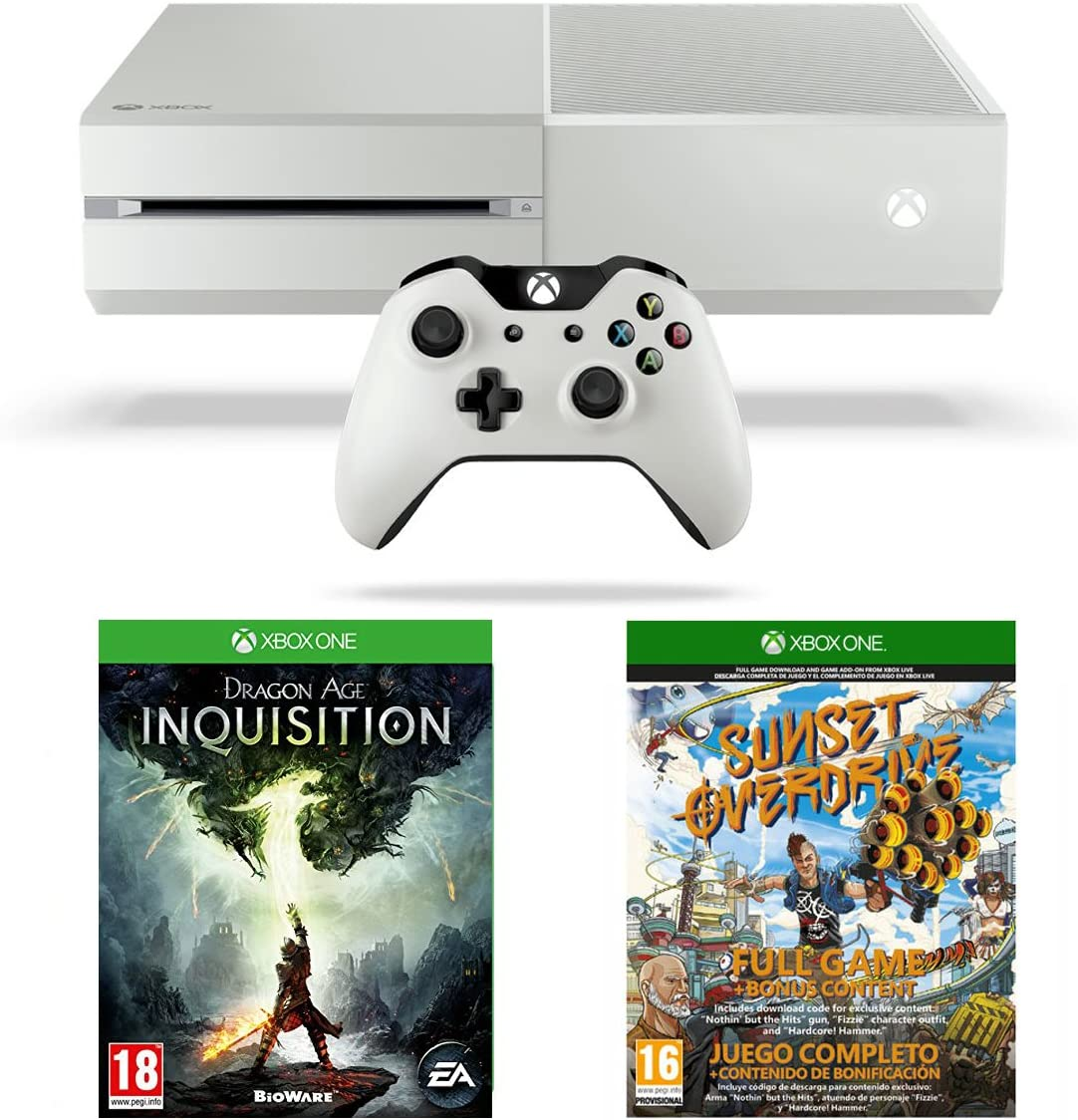 Xbox One White Console with Sunset Overdrive and Dragon Age Inquisition [Importación Inglesa]: Amazon.es: Videojuegos