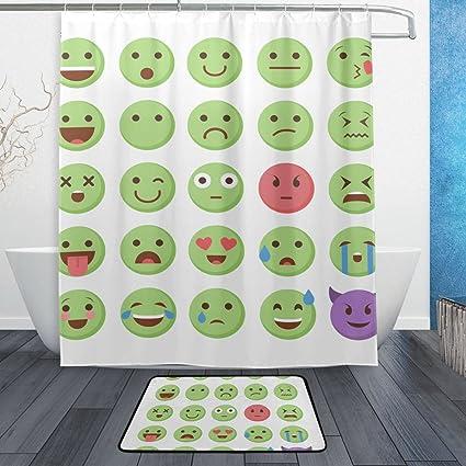 Amazon Com Baihuishop Emoticon Emoji Set 3 Piece Bathroom Set