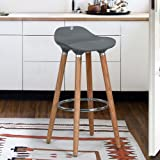 Aingoo Stylish Modern Bar Stools for Home Bar Kitchen, Gray Color, Set of 2