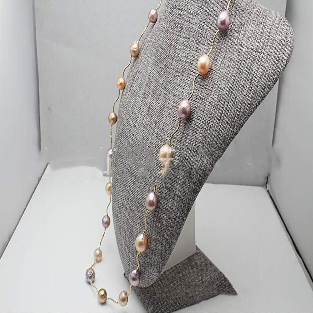 Lnyy Collar De Perlas En Forma De Collar De Perlas Largo Suéter Cadena Barroco Palacio Perla Collar Amazon Es Jardín