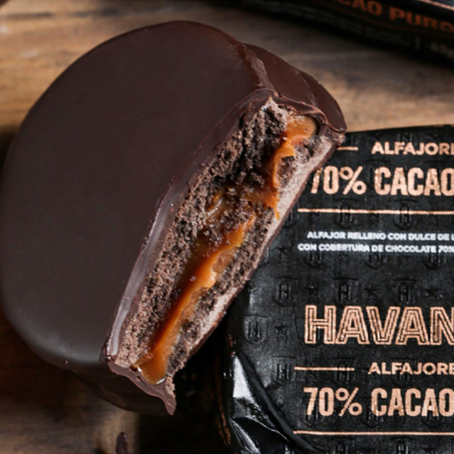 Amazon.com : NEW HAVANNA Extra Dark Chocolate 70% (9 alfajores) - GIFT BOX : Grocery & Gourmet Food