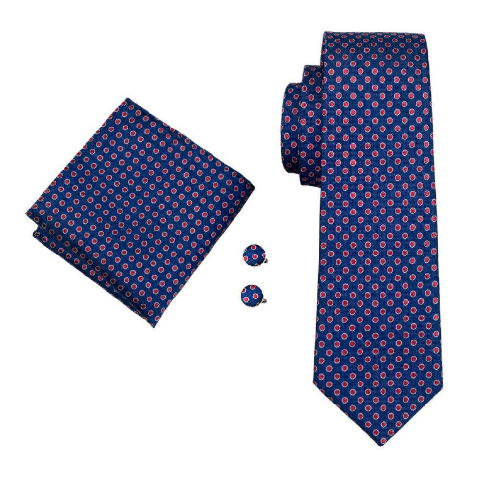 RXBGPZLD Classic Men`S Tie 100% Azul Oscuro Lunares Corbata De ...