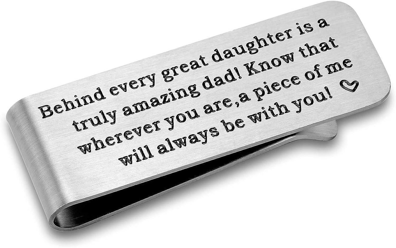 CJ&M regalo para papá – regalo del día del padre de la hija – clip de dinero para papá, regalo para el día del padre, dinero del padre