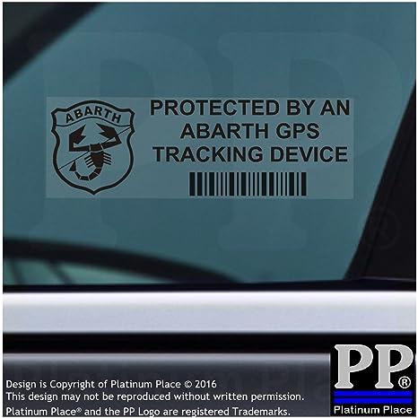 veh/ículo signos 5/x Abarth dispositivo de seguimiento GPS Tracker Alarma de Seguridad Pegatinas para ventana 87/x 30/mm-car Furgoneta