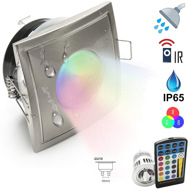 Faretto IP65 LED 5w cromoterapia GU10 doccia bagno turco RGB multi colore 220V