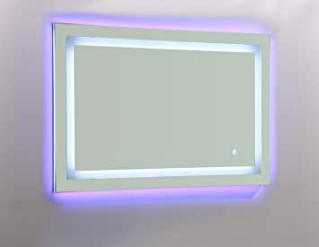 Vanity Art Led Lighted Bathroom Mirror With Touch Sensor And Glass Cabinet