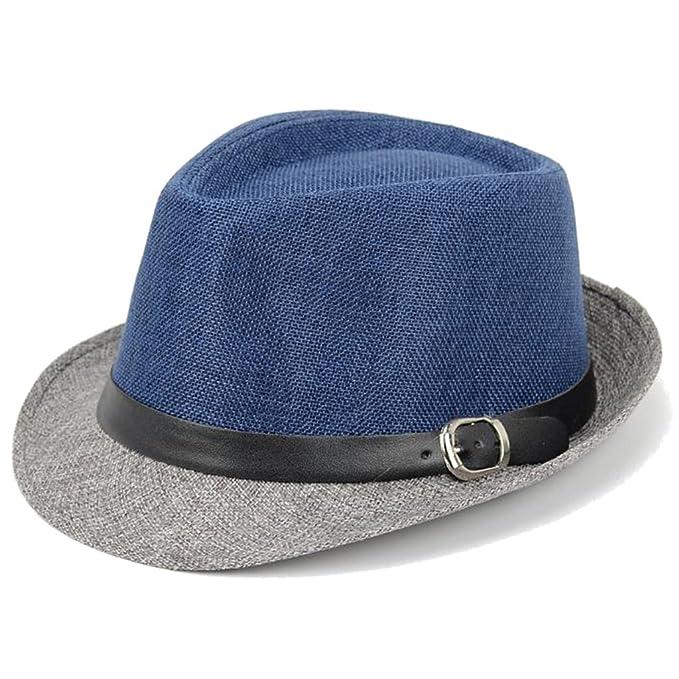AOBRITON Sombrero de Sol Panamá Fedora para Mujer aba62325ffa