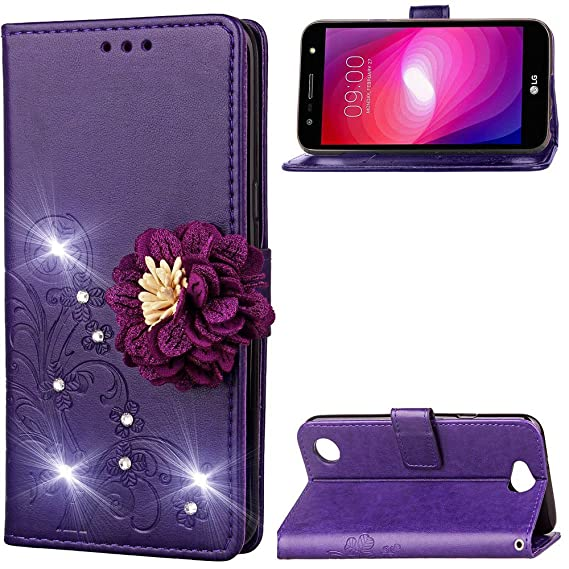 Amazon com: LG X charge Case, KAIDON [Flower & Embossing