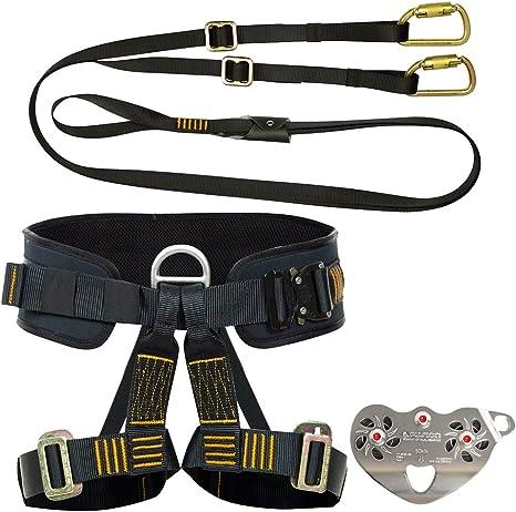Fusion Climb Pro Backyard Zip Line Kit Harness FK-A-HLT-18 Paquete ...