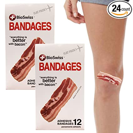 Amazon.com: bioswiss 24pc Tiras de bacon vendas autoadhesiva ...