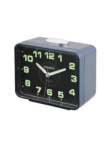 CASIO 10234 TQ-218-2D - Reloj Despertador analógico azul: Amazon.es: Relojes