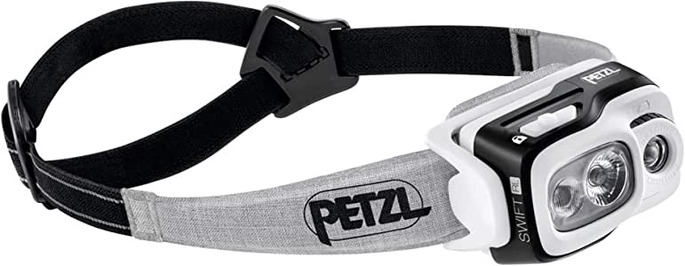 PETZL, Swift RL Compact Rechargeable headlamp, 900 lumens, Reactive Lighting Technology, Black